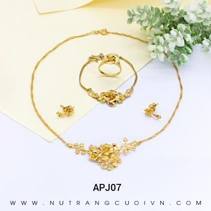 Bộ trang sức cưới APJ07