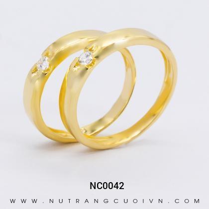 Nhẫn Cưới Vàng NC0042