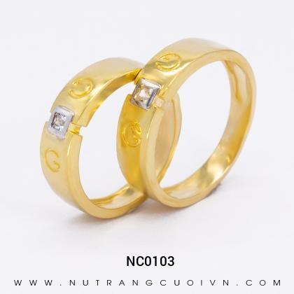 Nhẫn Cưới Vàng NC0103