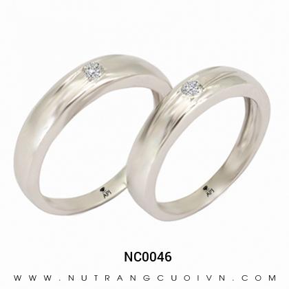 Nhẫn Cưới Vàng Trắng NC0046
