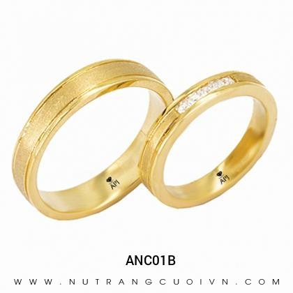 Nhẫn Cưới Vàng ANC01B