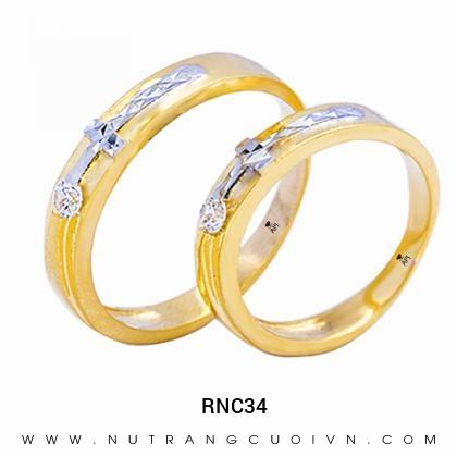 Nhẫn Cưới Vàng RNC34