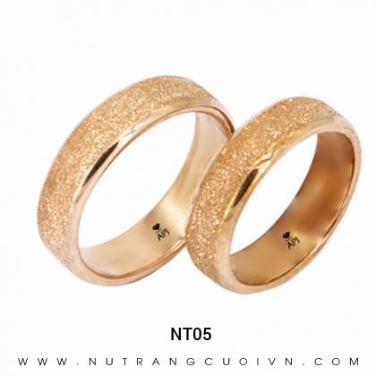 Nhẫn Cưới Vàng Hồng NT05