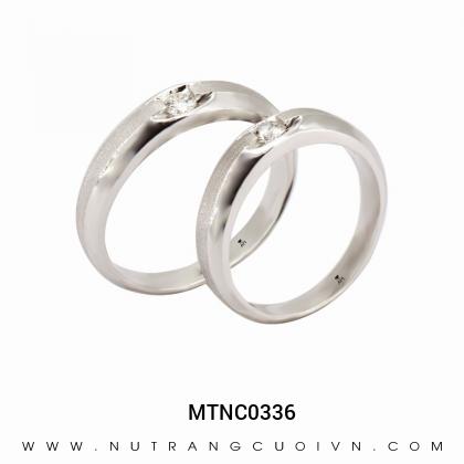 Nhẫn Cưới Vàng Trắng MTNC0336