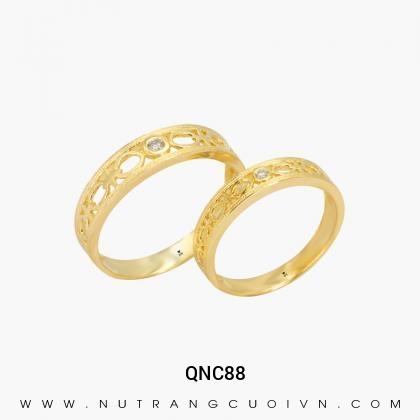 Nhẫn Cưới Vàng QNC88