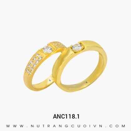 Nhẫn Cưới Vàng ANC118.1