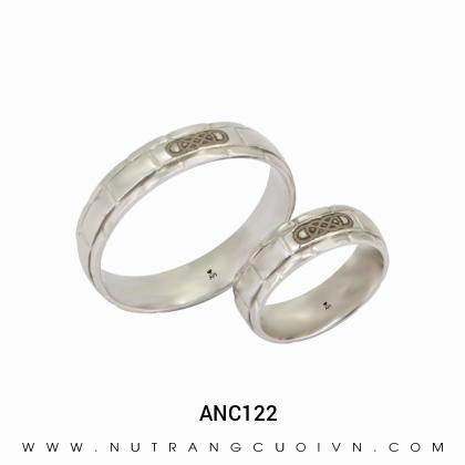 Nhẫn Cưới Vàng Trắng ANC122