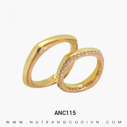 Nhẫn Cưới Hai Màu ANC115
