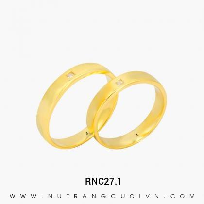 Nhẫn Cưới Vàng RNC27.1