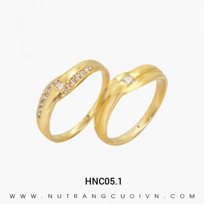 Nhẫn Cưới Vàng HNC05.1