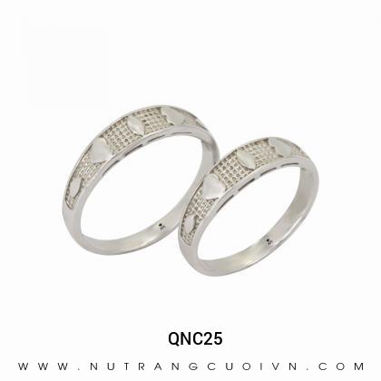 Nhẫn Cưới Vàng Trắng QNC25