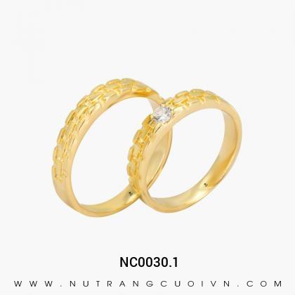 Nhẫn Cưới Vàng NC0030.1