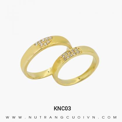 Nhẫn Cưới Vàng KNC03