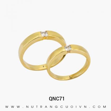 Nhẫn Cưới Vàng QNC71