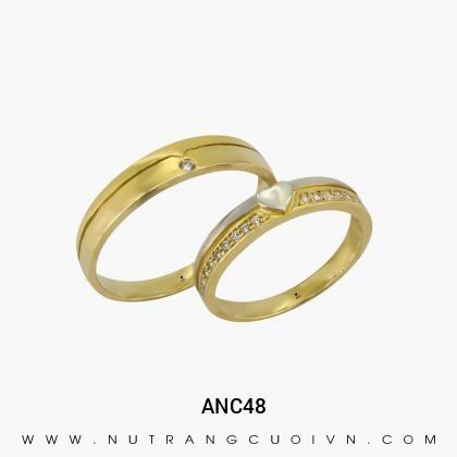 Nhẫn Cưới Vàng ANC48