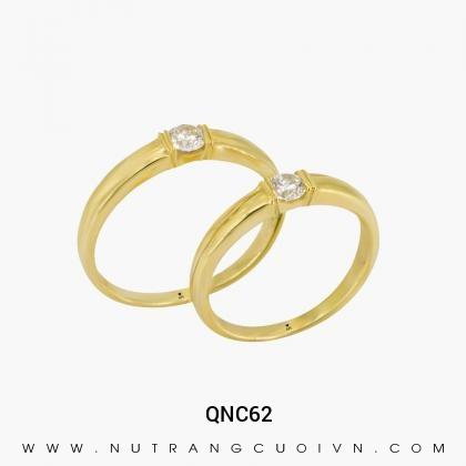Nhẫn Cưới Vàng QNC62