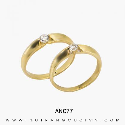 Nhẫn Cưới Vàng ANC77