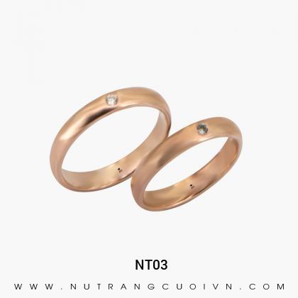 Nhẫn Cưới Vàng Hồng NT03