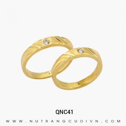 Nhẫn Cưới Vàng QNC41