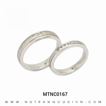 Nhẫn Cưới Vàng Trắng MTNC0167