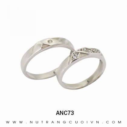 Nhẫn Cưới Vàng Trắng ANC73