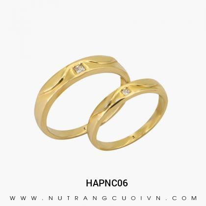 Nhẫn Cưới Vàng HAPNC06