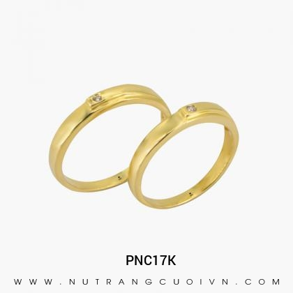 Nhẫn Cưới Vàng PNC17K