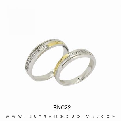 Nhẫn Cưới Hai Màu RNC22