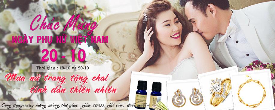 Khuyến mãi trang sức cưới nhân ngày 20/10/2015