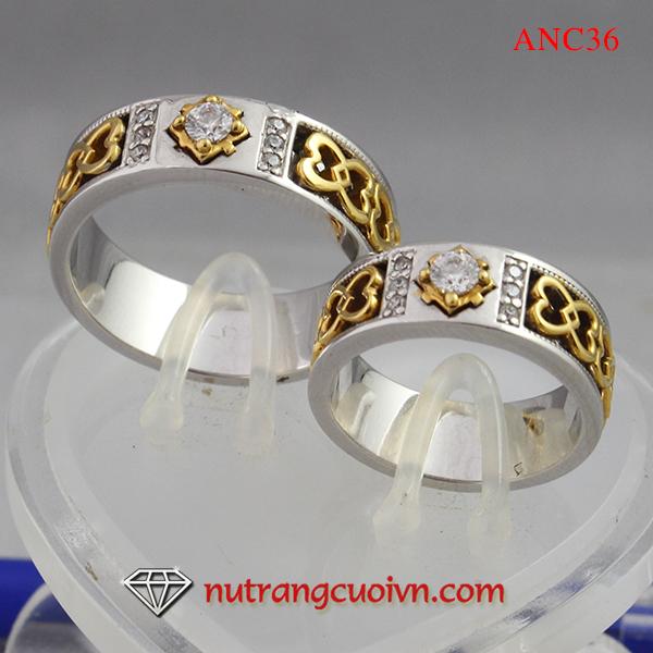 Các kiểu nhẫn cưới vàng trắng  nhẫn cưới 2 màu đang hot trên thị trường