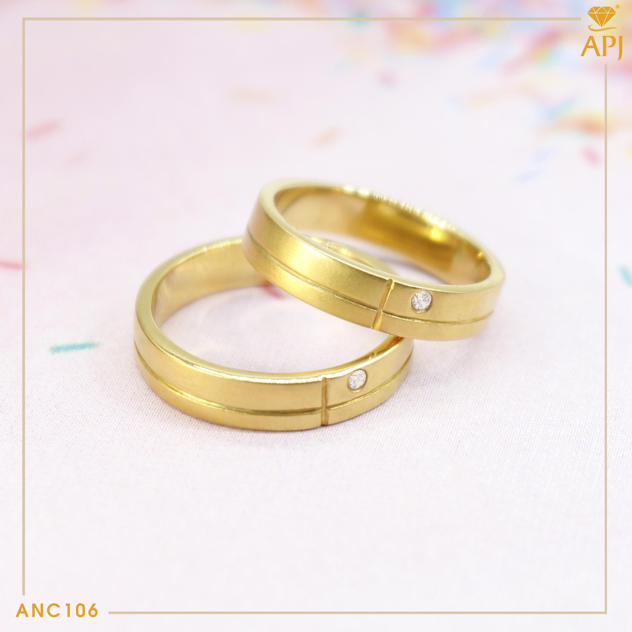 Các mẫu nhẫn cưới đơn giản nhưng không kém phần sang trọng