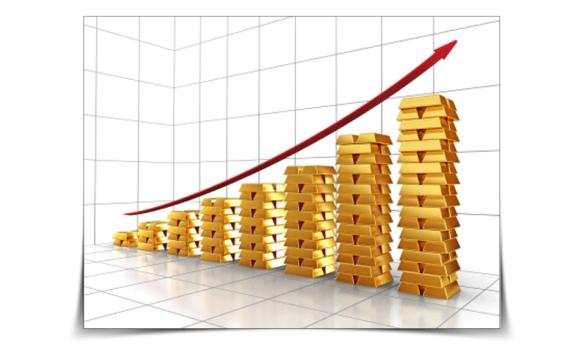 Giá vàng lên tăng liên tục trong vòng 1 tháng qua