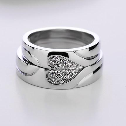 Những cặp nhẫn cưới trái tim đẹp và lãng mạn
