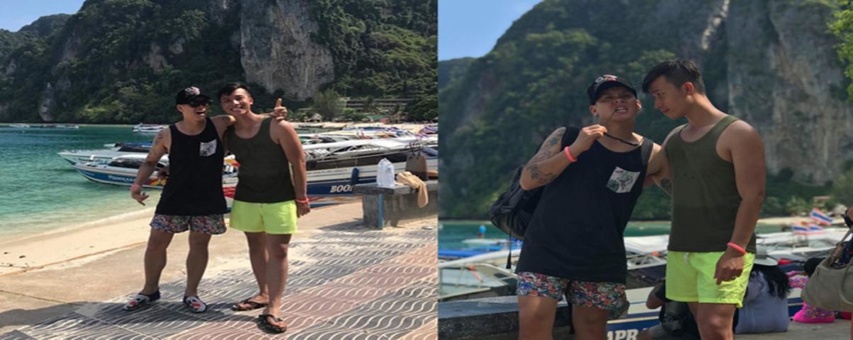 John Huy Trần và bạn đời 'soái ca' khoe những khoảnh khắc hạnh phúc kì trăng mật ở Thái Lan