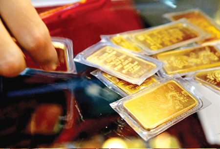 Vàng trong nước giảm xuống còn 35 triệu lượng