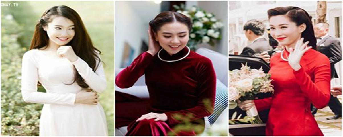 Những kiểu tóc cô dâu mặc áo dài được yêu thích nhất