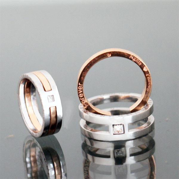 Đặt hàng để thiết kế cặp nhẫn cưới theo ý thích